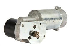 Custom gear motor assembly for power transmission application with mounting bracket, clutch assembly