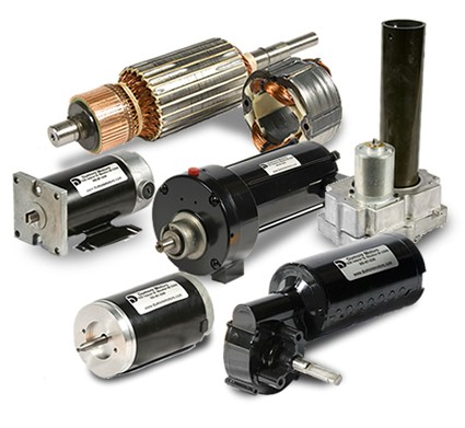 Custom fractional horsepower permanent magnet DC motors & series wound universal electric motors.