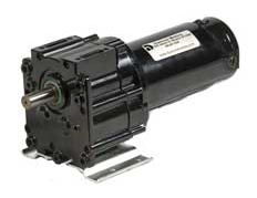 Series DP350 fractional horsepower permanent magnet DC (PMDC) custom inline parallel shaft gear motors